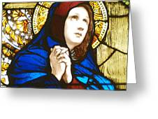 Our Lady Of Sorrows In Stained Glass Greeting Card