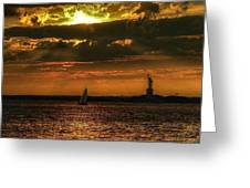 Our Lady Of The Harbor Greeting Card