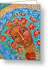 Our Lady Of The Roses Greeting Card