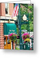 Ouray Street Lamp Greeting Card by Trisha Buchanan