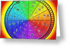 Ouroboros Alchemical Zodiac Greeting Card by Derek Gedney