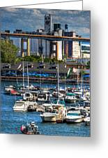 Out At The Harbor V3 Greeting Card