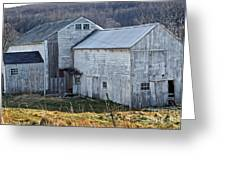 Out Behind The Barn Greeting Card