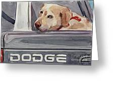 Out Of Dodge Greeting Card by Molly Poole