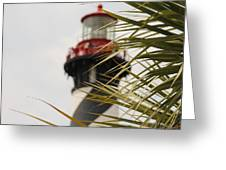 Out Of Focus Lighthouse Greeting Card