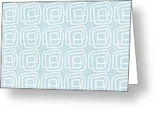 Out Of The Box Blue And White Pattern Greeting Card
