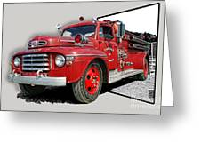 Out Of The Photo Fire Truck Greeting Card