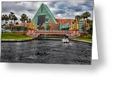 Out Running The Storm At The Dolphin Resort Greeting Card