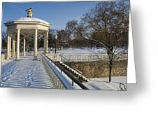 Out To The Gazebo Greeting Card