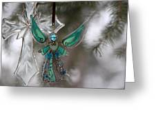 Outdoor Angel Greeting Card