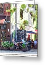 Outdoor Cafe Philadelphia Pa Greeting Card