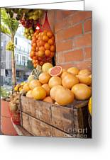 Outdoor Fruit Juice Stall  Greeting Card