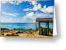 Outdoor Tropical Bar And Souvenirs Greeting Card