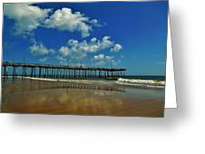 Outer Banks Pier South Nags Head 1 5/22 Greeting Card