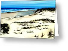 Outer Banks Sand Dunes Beach Ocean Greeting Card