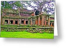 Outer Building Of Angkor Wat In Angkor Wat Archeological Park Near Siem Reap-cambodia  Greeting Card