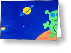 Outer Space- Part 4 Et Greeting Card