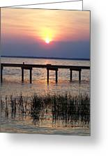 Outerbanks Nc Sunset Greeting Card