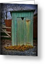 Outhouse - 6 Greeting Card