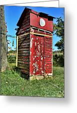 Outhouse 9 Greeting Card