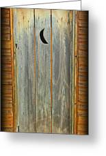 Outhouse Door Greeting Card