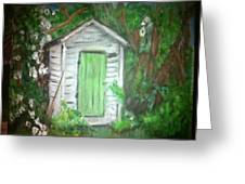 Outhouse Greenery Greeting Card