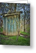 Outhouse In Spring Greeting Card