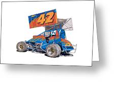 Dirt Track Racing Outlaw 42 Greeting Card