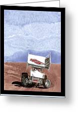 Outlaw Race Car Greeting Card