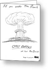 Outlaw The Bomb Greeting Card
