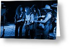 Outlaws #26 Crop 2 Blue Greeting Card