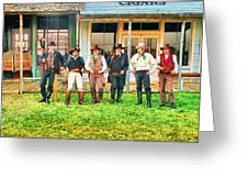 Outlaws Or Lawmen Greeting Card