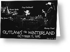 Outlaws With Toy Caldwell 1975 Greeting Card