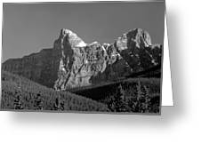 1m3621-bw-outlier Of  Mt. Murchison  Greeting Card