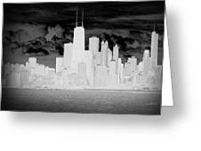 Outline Of Chicago Greeting Card