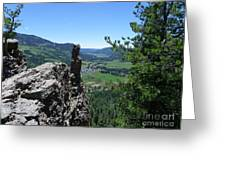 Outlook From The Ridge Greeting Card