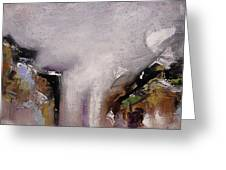 Outpour Modern Contemporary Abstract Original Painting On Canvas Greeting Card