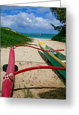 Outrigger Beach Greeting Card