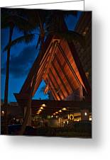 Outrigger Reef On The Beach Greeting Card