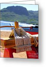 Outrigger Rigging Greeting Card