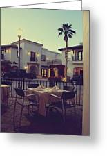 Outside Dining Greeting Card by Laurie Search