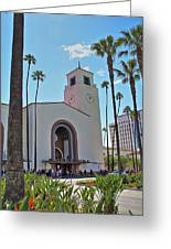 Outside Los Angeles Union Station Greeting Card