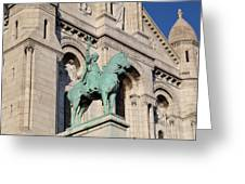 Outside The Basilica Of The Sacred Heart Of Paris - Sacre Coeur - Paris France - 01137 Greeting Card by DC Photographer