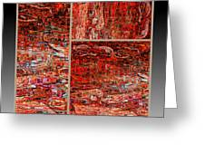 Outside The Box - Abstract Art Greeting Card