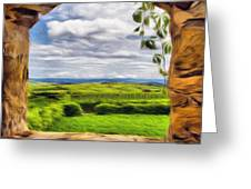 Outside The Fortress Wall Greeting Card by Jeff Kolker