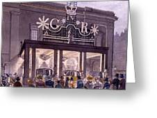 Outside The Theatre Royal, Drury Lane Greeting Card