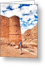 Outside The Walls Of Historic Saint Catherine's Monastery - Egypt Greeting Card by Mark E Tisdale