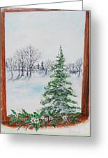 Outside The Window Greeting Card