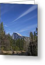 Over Half Dome Greeting Card