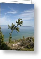 Over Lake Michigan Greeting Card
